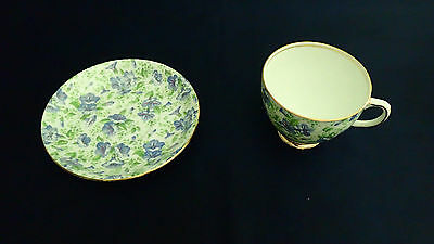 Vintage Royal Albert Blue Pansy Chintz Tea Cup and Saucers Set! EXCELLENT!