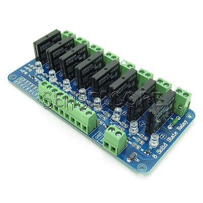 250V 2A 8 Kanal OMRON SSR Solid State Relay Modul Für Arduino G3MB-202P