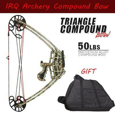 Archery 50Lbs Compound Bow Hunting Right/Left Hand Camo Bow & Bow Case set