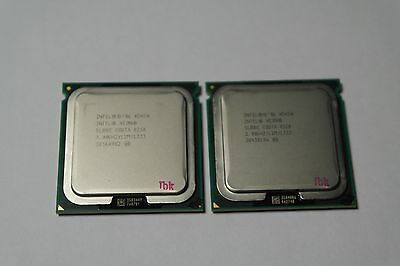 Matched Pair of Intel Xeon X5450 3 GHz Quad-Core SLBBE Processor w/Grease
