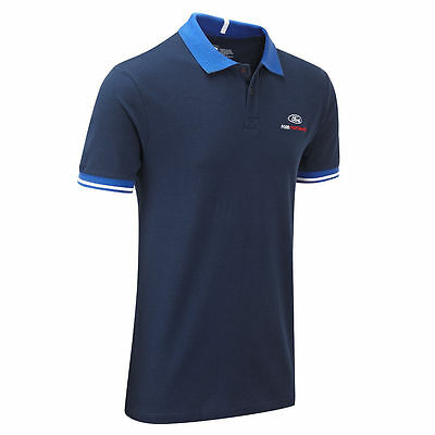 Ford Performance Travel Polo Shirt-Le Mans-Motorsport-Rrp.£50.00