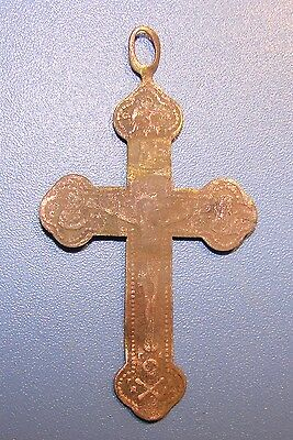 Ancient COPPER  Cross Middle Ages original