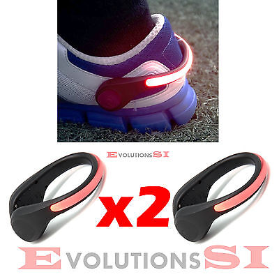 2x LUZ SEGURIDAD RUNNING CICLISMO CORRER LUCES SAFETY LED LIGHT TOBILLO MUÑECA