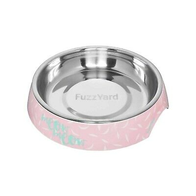 "Fuzzyard ""Featherstorm"" Wide & Shallow Cat Bowl - Eliminate Whisker Stress"