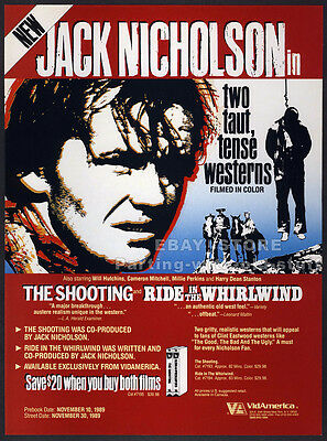 The Shooting / Ride in the Whirlwind__Orig. 1989 Trade AD promo__JACK NICHOLSON