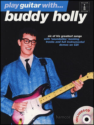 Play Guitar With Buddy Holly TAB Music Book & Play-Along Backing Tracks CD