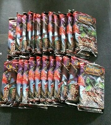 World of Warcraft Fields of Honor Sealed Booster Pack box lot 24 packs El Pollo?
