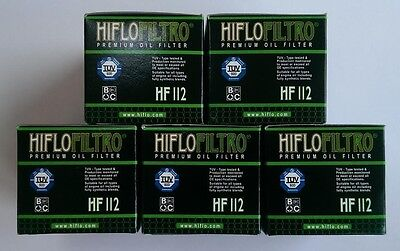 Honda XBR500 (1985 to 1988) HifloFiltro OE Quality Oil Filter (HF112) x 5 Pack