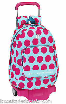 UCB BENETTON DOTS Mochila grande con carro ruedas/Trolley/Rucksack with wheels