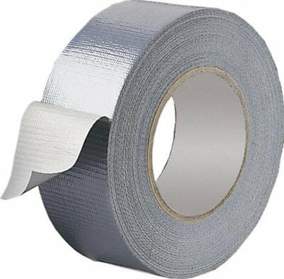 Silver Strong Duck Duct Waterproof Gaffa Gaffer Cloth 50M X 50MM Self Adhesive