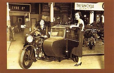 Postcard Nostalgia 1930 BSA at Olympia Motorcycle Show London Reproduction Card