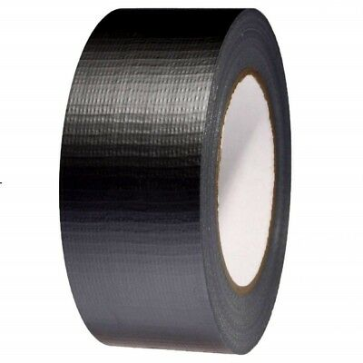 "Black Duct Duck Self Adhesive Tape Gaffa Gaffer Cloth 2"" 50m x 50mm Waterproof"