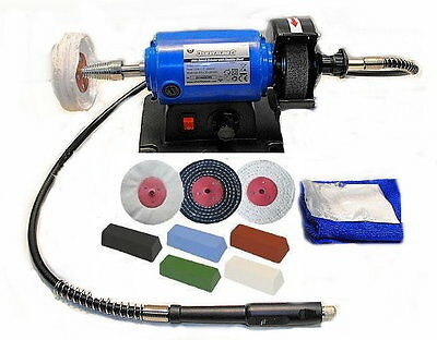Mini Metal Polishing Machine / Polisher Kit (Variable Speed) c/w Flexible Shaft