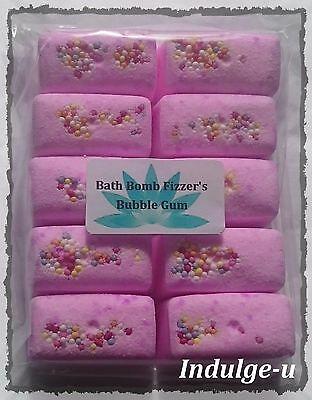 10 Fragrance Oil Bath Bomb Fizzers (Read Item description for size)