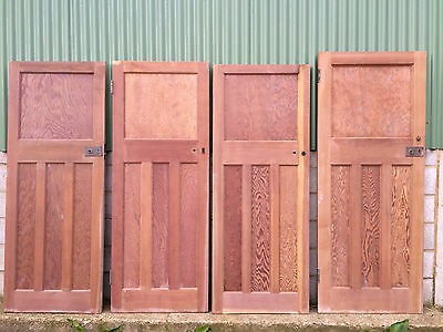 Reclaimed solid wood 1930s one over three panel doors listing 3