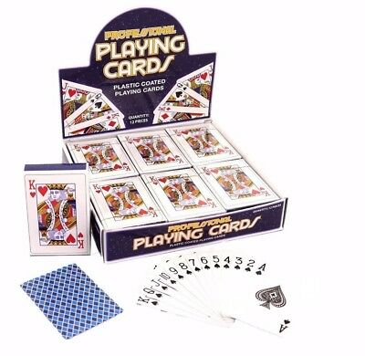 PROFESSIONAL SEALED PLASTIC COATED PLAYING CARDS  (Choose From 1 or 3 Packets)