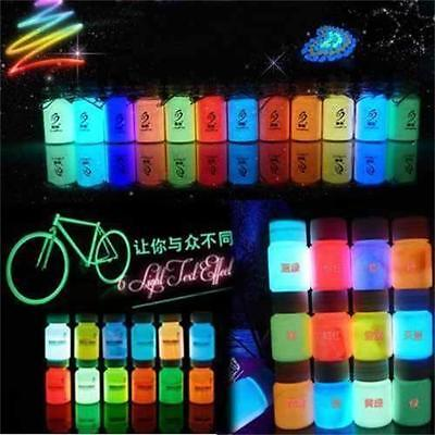 20g Glow in the Dark Pigment Graffiti DIY Acrylic Luminous Bright Paint Party v3