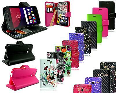 "For  Alcatel Pixi 4 4"" 4034 X New Leather Flip Wallet Phone Case + Screen Guard"