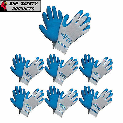 Atlas Fit 300 Showa-Best Latex Palm Blue Large Rubber Work Gloves (1 Dozen)