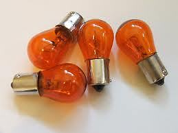 Vespa Indicator Bulbs Orange PX or Disc also LML Off Set Pins