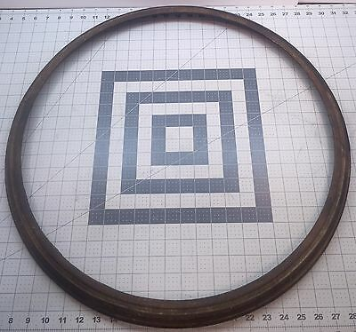 "Rare Koken Barber Shop Chair Base Trim Ring Cast Iron 24.25""od 21.5""id No Breaks"