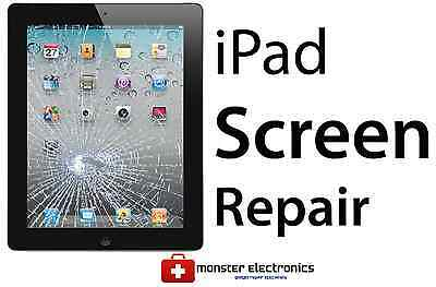 iPad CRACKED SCREEN GLASS DIGITIZER TOUCHSCREEN REPAIR REPLACEMENT SERVICE
