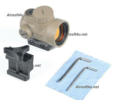 New Airsoft TJ MRO In Tan Red Dot Sight 2.0 MOA Matte