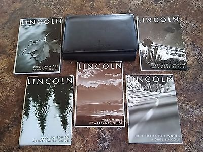 2002 Lincoln Town Car Owners Manual w/ Case & Supplements - #A