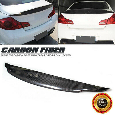 Carbon Fiber Rear Trunk Spoiler Wing Fit for Infiniti G Series G37 Coupe 2009-13