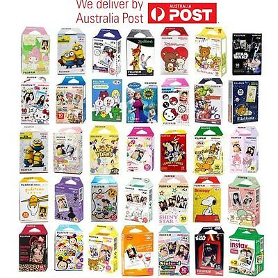 50PCS Fujifilm Fuji Instax Mini Photo Film for 7s 8 Plus 25 90 50s Camera AU