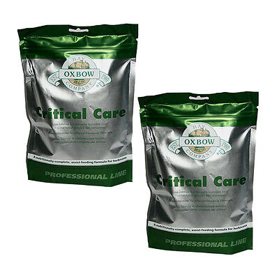 2x Oxbow Critical Care Bag 141g Rodents Reptiles Food Replacement Feeding Rabbit
