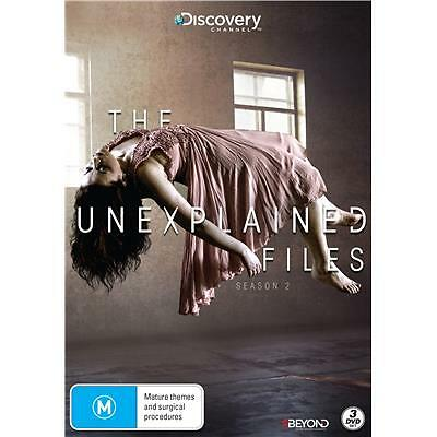 The Unexplained Files : Season 2 (DVD, 2016, 3-Disc Set)(Region 4) Aussie Releas