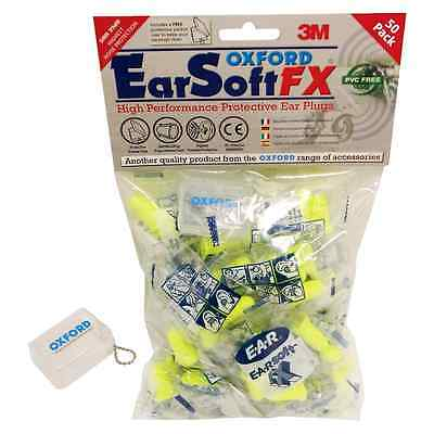 New Oxford Motorcycle Bike Earsoft FX Protective Earplugs 50 Pairs W/ Carry Case