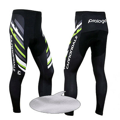 New Mens Winter Cycling Pants Bike Tights Bicycle Padded Trousers Thermal Fleece