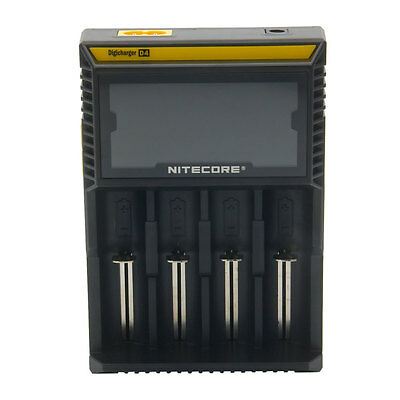 1X Nitecore D4 Battery Charger For AAA AA 16430 18650 Li-ion Ni-CD Ni-MH EU Plug