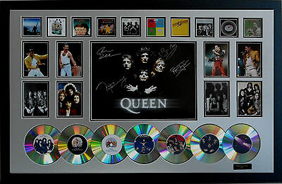 New Queen Signed Limited Edition Framed Memorabilia