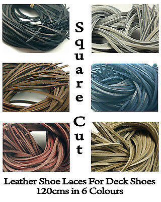 Flat Square Leather Laces Deck shoes Boots Thongs-3MM 120CM