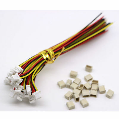 10kits Mini Micro SH 1.0 JST 3-Pin Connector plug Male with 100MM cable & female