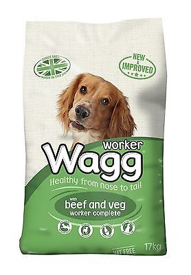Wagg Complete Worker Dry Mix Dog Food Beef and Vegetables 17kg *FAST DELIVERY*