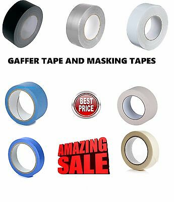 New! Duct Gaffer/gaffa-Masking Tapes Blue-General Assorted Sizes Multilisting