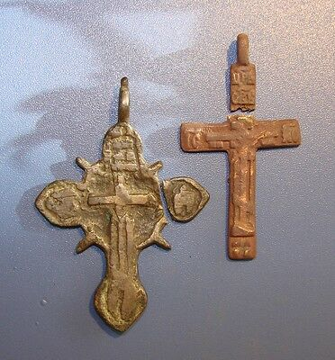 Ancient BRONZE BIG Cross Middle Ages original