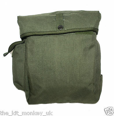 British Army S10 Gas Mask / Respirator PLCE carry case Green - Super Condition