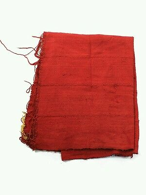 """Authentic Red Mudcloth Fabric African Mali Mud Cloth 43""""x 64"""""""