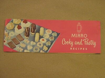 Vintage Mirro Cookie & Pastry Press Owners Manual Recipe Book w/ Spritz Recipes