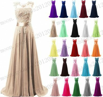 Chiffon Lace Evening Formal Party Ball Gown Prom Bridesmaid Dress Size 6~22 New