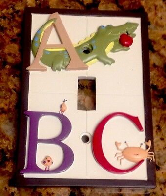 Kidsline My First ABC Light Switch Plate Cover Boy's Room Jungle Nursery Bath
