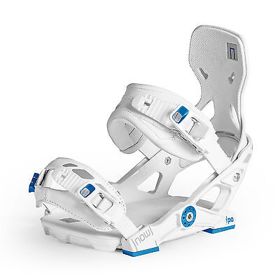 Now IPO Snowboard Bindings - White/Blue - Large - Free Shipping - BOARDWORLD