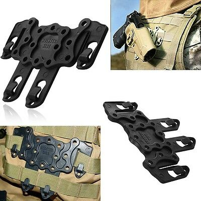 Black Ambidextrous CQC Style Serpa Holster MOLLE Strike Speed Clip Platform