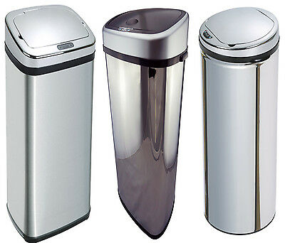 Stainless Steel Automatic Sensor Touchless Waste Dust Bin 42L 50L 58L 68L