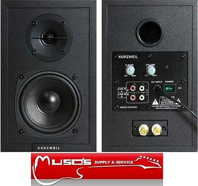Kurzweil KS-40A Compact, Self-Powered Pair Monitors $249 + postage